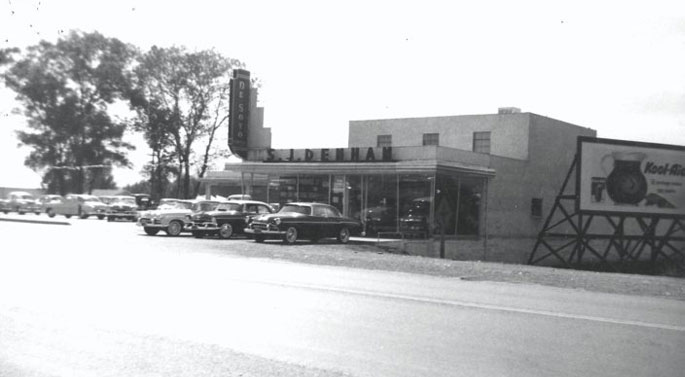 Historical photo of the front of SJ Denham