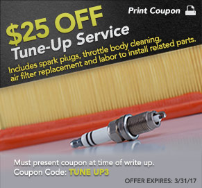 $25 Off Tune-Up Service at SJ Denham